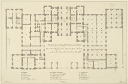 Plan of the ground floor of the Horse Guards at Whitehall